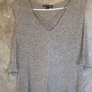5 /$30 Gray marble cold shoulder blouse